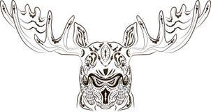 Лоси татуировки картины Стоковые Изображения RF