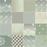 Лоскутное одеяло в затрапезном шикарном стиле Стоковые Изображения RF