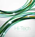 Лоснистая волна, дизайн идентичности брошюры дела coporate Стоковые Изображения RF