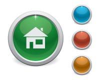 Лоснистая домашняя кнопка иллюстрация вектора