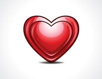 Лоснистая иллюстрация вектора сердца Стоковое Изображение RF