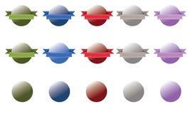 Лоснистая кнопка некоторые с знаменем - комплектом 1 Стоковые Изображения