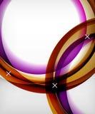 Лоснистая предпосылка вектора волны с светом и влияниями тени, белыми перекрестными формами Стоковая Фотография RF