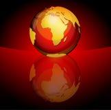 лоснистая сфера планеты Стоковые Фото