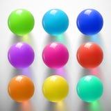 Лоснистое красочное sphere-01 Стоковое Изображение RF