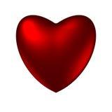 Лоснистое романтичное сердце Стоковые Фотографии RF