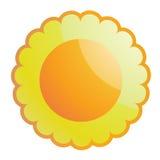 лоснистое солнце Стоковое Изображение