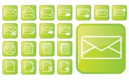 лоснистые зеленые иконы part3 Стоковые Фото