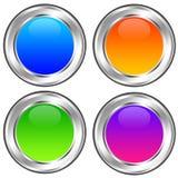 лоснистые иконы Стоковая Фотография RF
