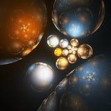 Лоснистые и сияющие пузыри, шарики релаксации Стоковое Изображение RF