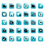 Лоснистые кнопки иконы сети Стоковые Изображения RF