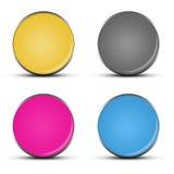 Лоснистые кнопки сеты Стоковые Изображения