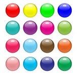 Лоснистые кнопки Стоковая Фотография