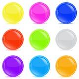 Лоснистые кнопки Стоковые Фото