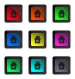Лоснистые домашние кнопки Стоковая Фотография