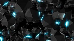 Лоснистые поверхностные драгоценности с светами, 3d представляют фон произведенный компьютером бесплатная иллюстрация
