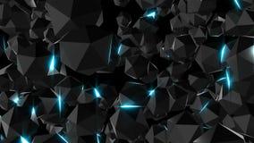 Лоснистые поверхностные драгоценности с светами, 3d представляют фон произведенный компьютером иллюстрация штока