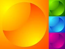 Лоснистые сияющие сферы Ультрамодные абстрактные кнопки Значки круга, иллюстрация штока