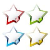 лоснистые стикеры звезды Стоковая Фотография