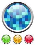 лоснистые текстурированные иконы Стоковая Фотография RF