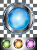 Лоснистые цветастые кнопки Стоковые Изображения RF