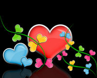Лоснистые цветки сердец. Стоковые Фотографии RF