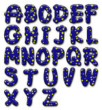 Лоснистый алфавит звезды Стоковые Изображения
