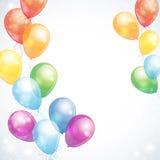 Лоснистый воздушный шар Стоковые Изображения