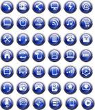Лоснистый значок кнопки Стоковые Фото