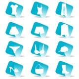 Лоснистый комплект иконы способа Стоковое Фото