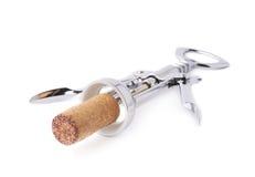 Лоснистый консервооткрыватель бутылки вина металла стоковые изображения