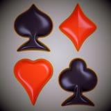 Лоснистый костюм карточки над предпосылкой виньетки Стоковое Фото