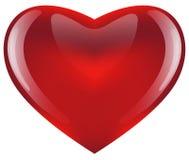 лоснистый красный цвет сердца иллюстрация вектора