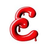 Лоснистый красный uppercase письма e перевод 3d бесплатная иллюстрация