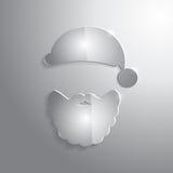 Лоснистый стеклянный значок Санта Клауса также вектор иллюстрации притяжки corel Стоковые Изображения