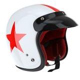 Лоснистый шлем спорт для всадника с красной нашивкой Стоковая Фотография RF