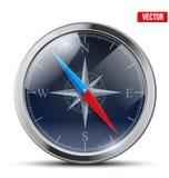 Лоснистый яркий винтажный компас также вектор иллюстрации притяжки corel Стоковое Фото