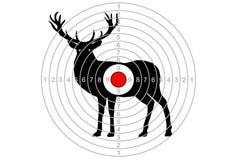 Лось вектора цели, олень Стоковая Фотография