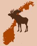 лось Норвегия рождества Стоковые Фото