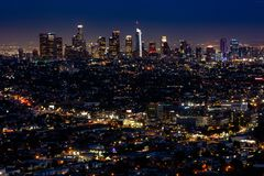 Лос-Анджелес вечером стоковая фотография