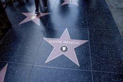 Лос-Анджелес, США, 2016:02: 24 звезды на бульваре Голливуда Quentin Tarantino Стоковое Изображение RF