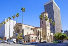 Лос-Анджелес, США, 2016:02: 24 церков Wilshire христианских Стоковая Фотография