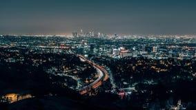Лос-Анджелес Skylin от шара Голливуда обозревает акции видеоматериалы