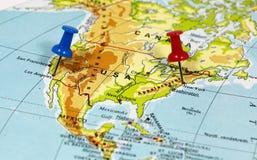 Лос-Анджелес и Нью-Йорк в США стоковые изображения