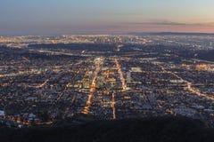 Лос-Анджелес и Glendale Калифорния Стоковые Изображения RF