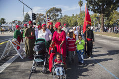 Лос-Анджелес, Калифорния, США, 19-ое января 2015, 30-ый ежегодный младший Мартин Лютер Кинга Парад дня королевства, Афро-американ Стоковая Фотография RF