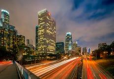 Лос-Анджелес на ноче Стоковые Фото