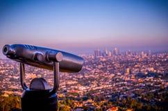 Лос-Анджелес обозревает стоковое фото