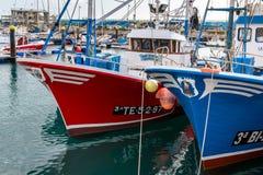 ЛОС CHRISTIANOS, TENERIFE/SPAIN - 19-ОЕ ЯНВАРЯ 2015: Горжетка рыбной ловли Стоковое Изображение RF
