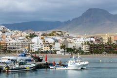 ЛОС CHRISTIANOS, TENERIFE/SPAIN - 19-ОЕ ЯНВАРЯ 2015: Шлюпки Moore Стоковое фото RF